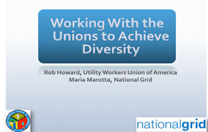 Working with Unions to Encourage Diversity