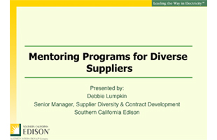Mentoring Programs for Diverse Suppliers