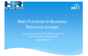 Getting to 100: Best practices in business resource groups