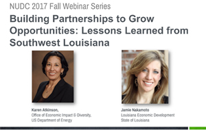 Lessons from Southwest Louisiana: Building Partnerships to Grow Opportunities