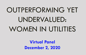 Outperforming Yet Undervalued: Women in Utilities